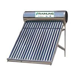 Panou solar apa calda nepresurizat RAINUNG, rezervor din inox 150L, 15 tuburi mari, vas flotor 2L si suport inox