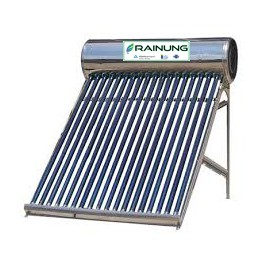 Panou solar pentru apa calda cu presiune RAINUNG, rezervor inox 150L, 15 tuburi mari, vas flotor 2L si suport din inox